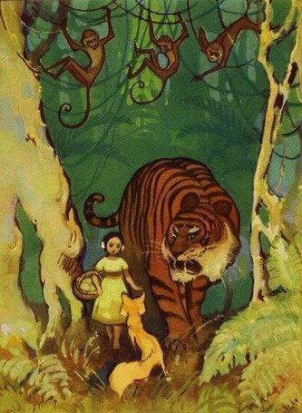 Девочка в джунглях
