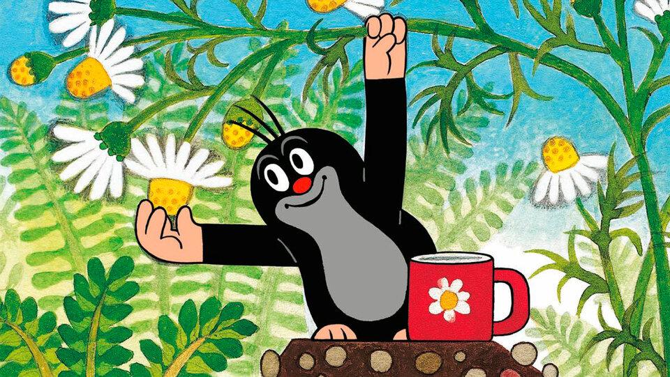 Картинка про кротика из мультфильма крот