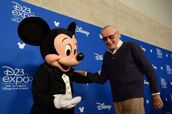 Стэн Ли и другая легенда студии Disney / Фото: Getty Images