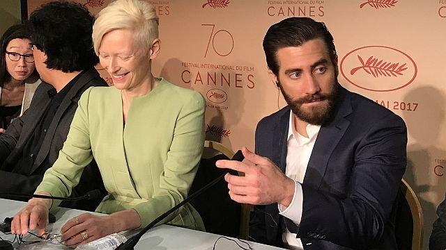 Тильда Суинтон и Джейк Джилленхол на пресс-конференции / Фото: КиноПоиск