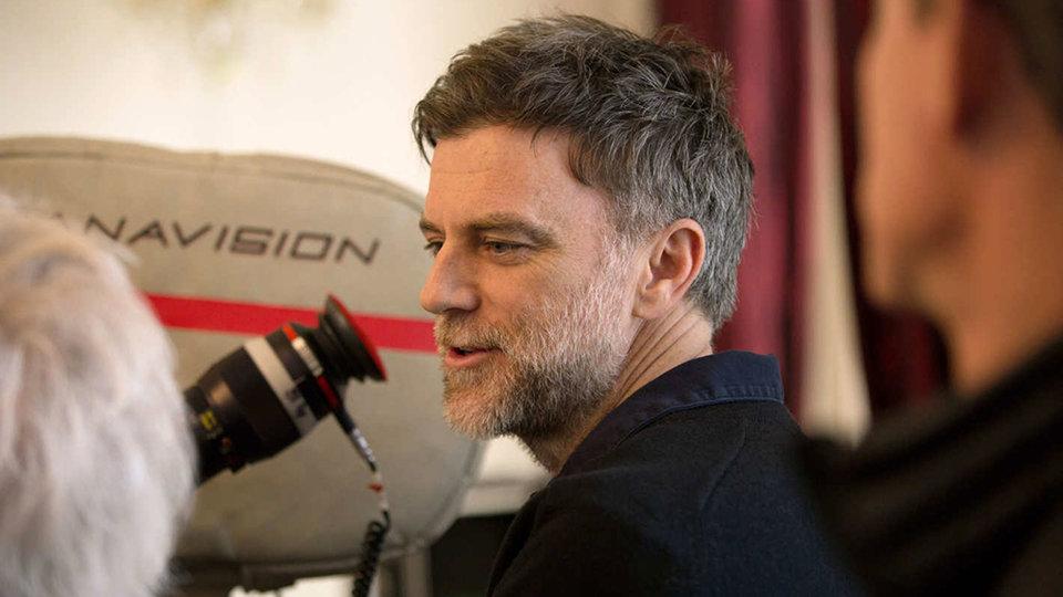 Пол Томас Андерсон на съемках фильма «Призрачная нить»