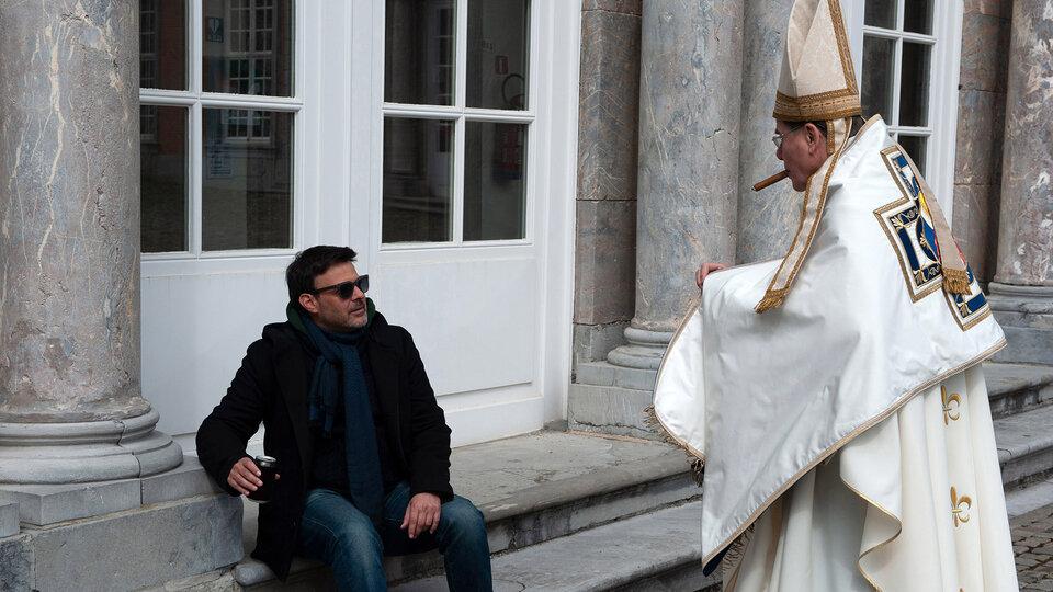 Франсуа Озон на съемках фильма «По воле божьей»