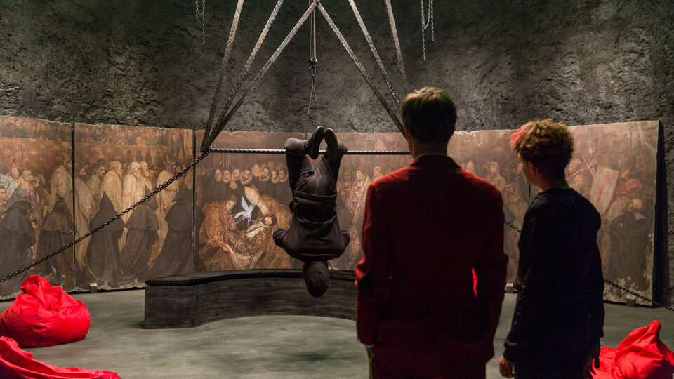 На съемках фильма «Ампир V»