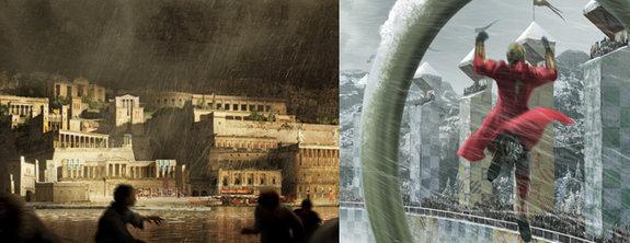 Дизайн среды для «Битвы титанов» и «Гарри Поттера»