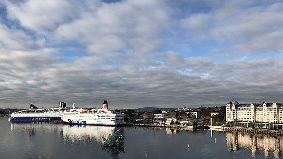 Вид на Осло с крыши оперного театра / Фото: КиноПоиск