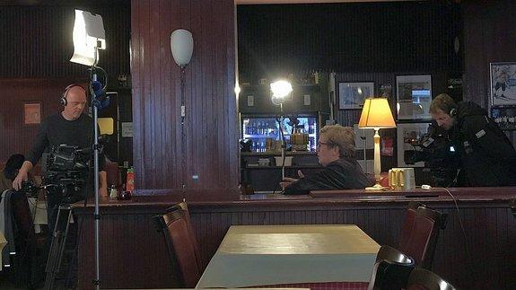 Томас Альфредсон вовремя интервью вресторане «Шрёдер» вОсло/ Фото: КиноПоиск