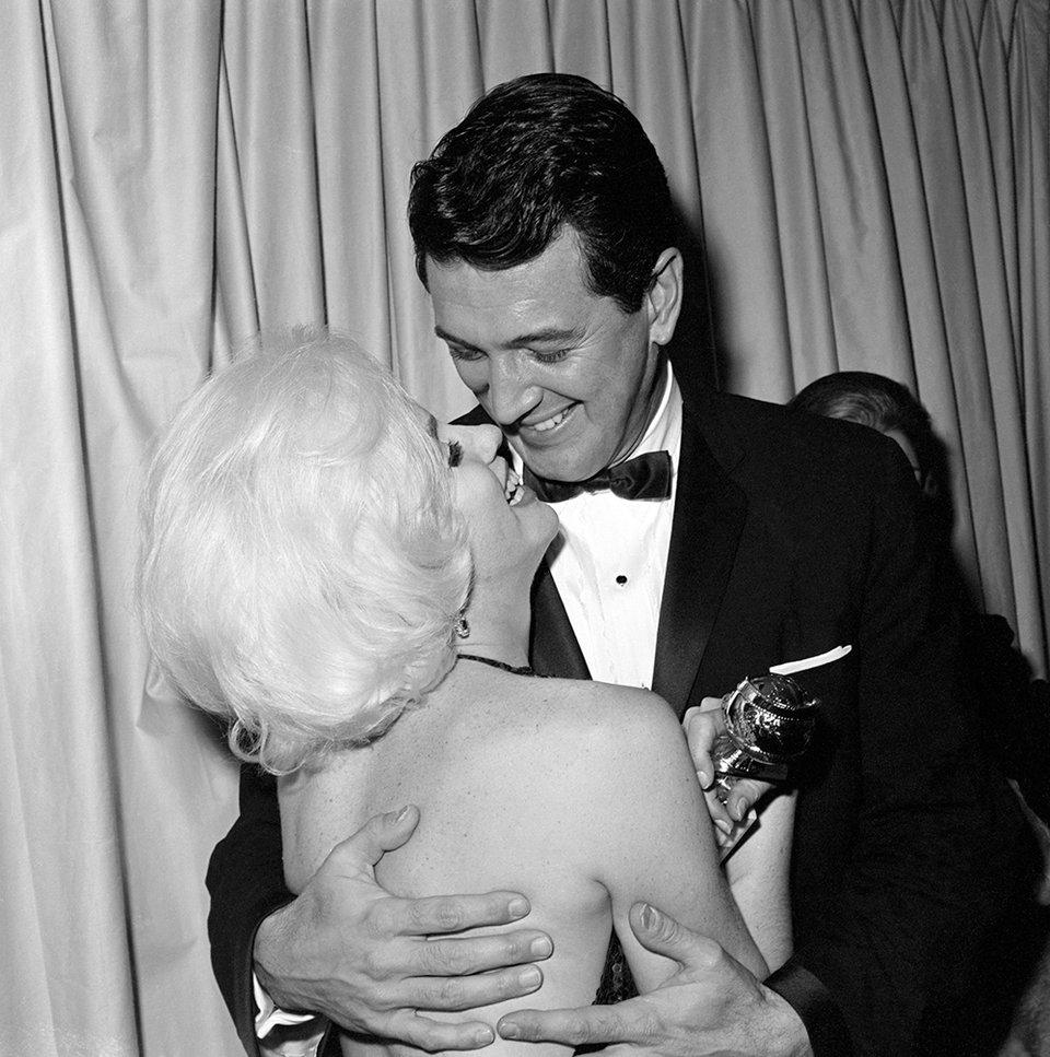 С Роком Хадсоном на вручении «Золотого глобуса», 1962