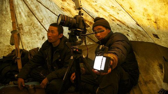 На съемках фильма «Охотники» / Фото из личного архива Максима Арбугаева