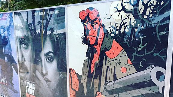 Постер еще не снятого перезапуска «Хеллбоя» на набережной Круазетт / Фото: КиноПоиск