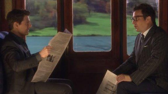 Том Круз и Джимми Фэллон разыграли нелепую шпионскую сценку