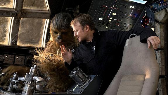 На съемках фильма «Звездные войны: Последние джедаи»