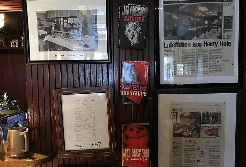 Книги Ю Несбё в ресторане / Фото: КиноПоиск