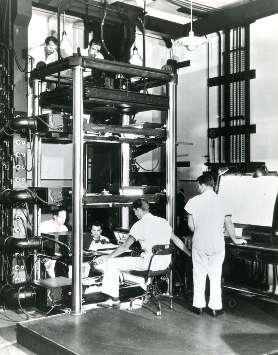Мультипликационный станок на студии Уолта Диснея