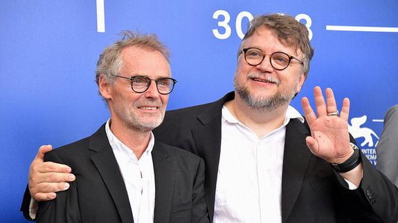 Гильермо дель Торо и Дан Лаустсен / Фото: Getty Images