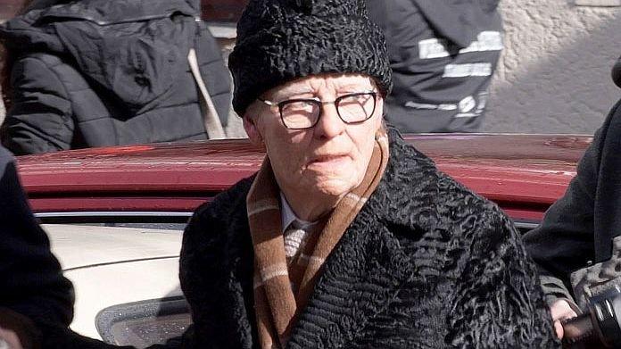 Тильда Суинтон на съемках «Суспирии»