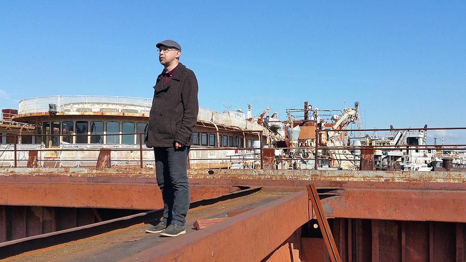 Алексей Иванов на месте съемок фильма «Географ глобус пропил»