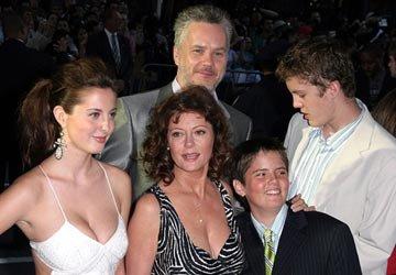 Сьюзан Сарандон, Тим Роббинс с семьей