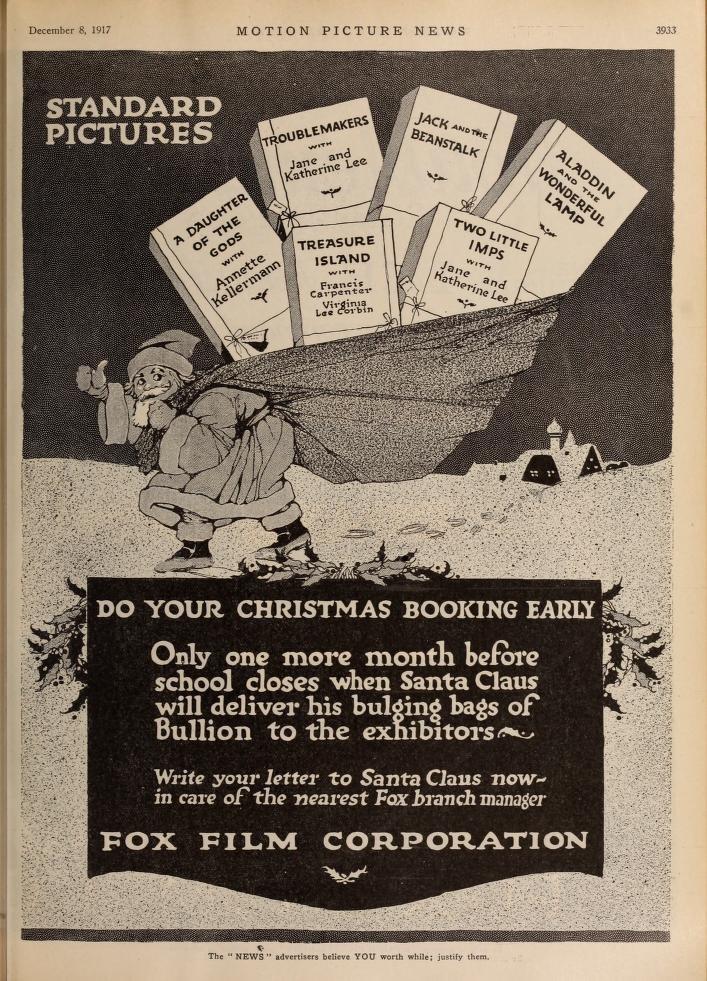 Рождественская реклама киностудии Fox