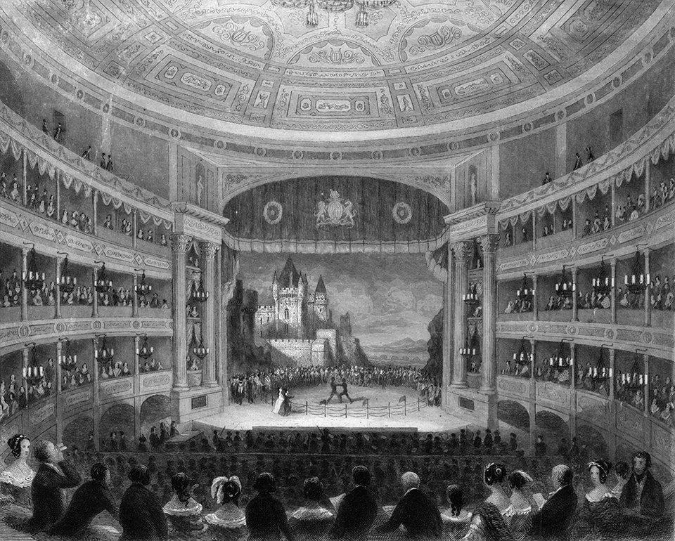 Рисунок с изображением одного из старейших театров Лондона «Друри-Лейн» / Фото: Getty Images
