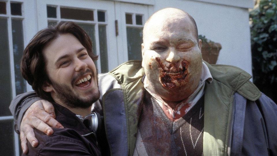 На съемках фильма «Зомби по имени Шон»