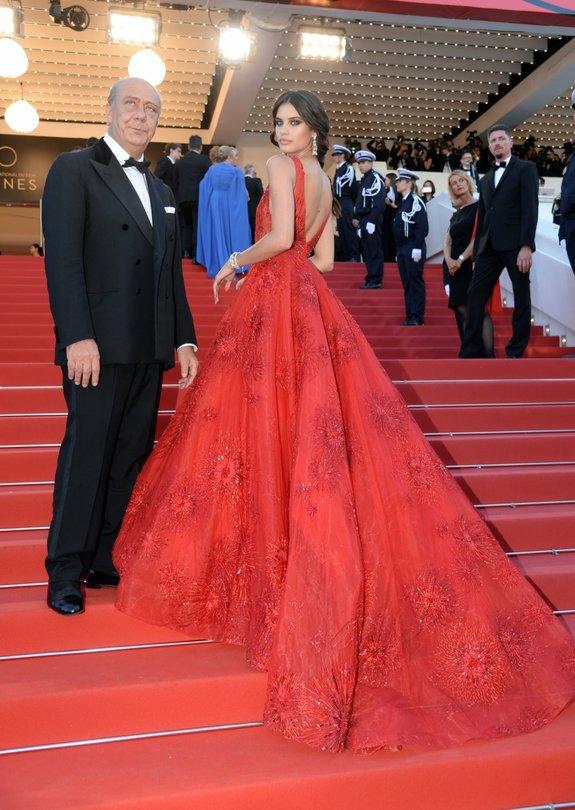 Модель Сара Сампайо и Фаваз Груози  / Фото: Getty Images