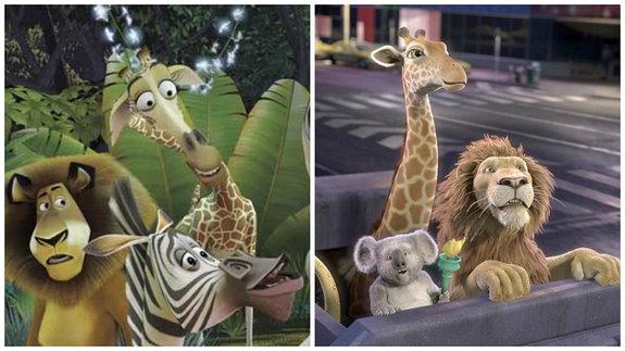 «Мадагаскар»  и«Большое путешествие»