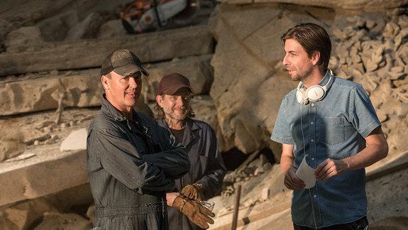 Майкл Китон на съемках «Человека-паука: Возвращения домой»