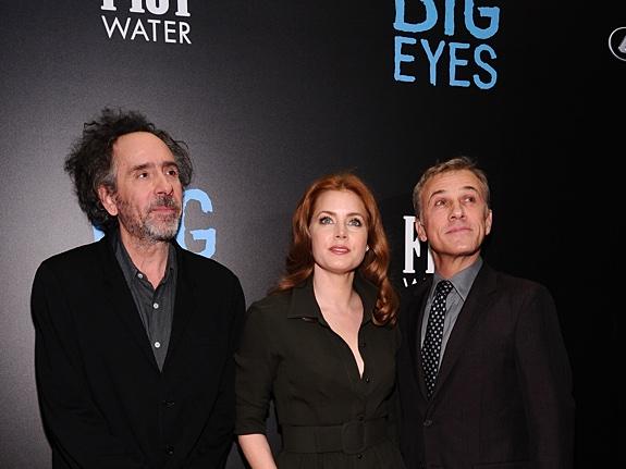 Эми Адамс и Кристоф Вальц на премьере ленты «Большие глаза»