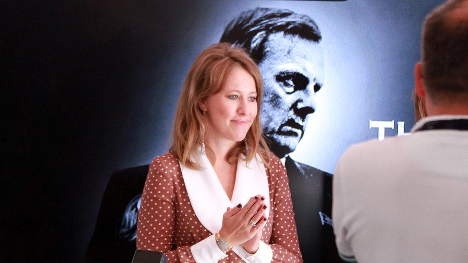Ксения Собчак представляет фильм на Каннском фестивале 2018 года / Фото: Надежда Вознесенская для КиноПоиска