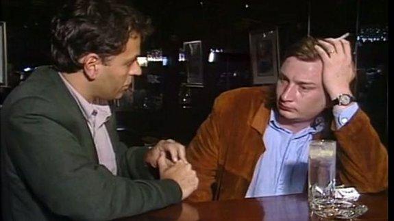 Каурисмяки дает интервью французскому режиссеру и художнику Энки Билалу, 1990 год