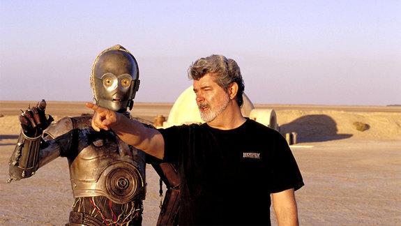 На съемках фильма «Звездные войны: Эпизод 1 – Скрытая угроза»