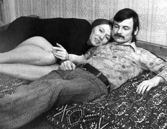 Андрей Тарковский и его жена Лариса Кизилова