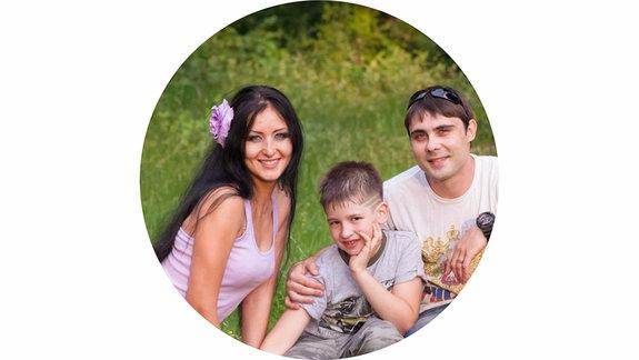 Глафира Мельникова с семьей / Фото из личного архива