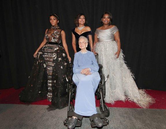 Актрисы из «Скрытых фигур» и Кэтрин Джексон / Фото: Getty Images