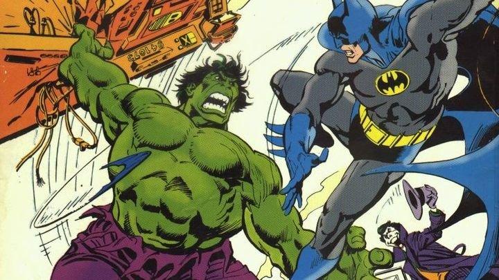 Фрагмент обложки комикса «Бэтмен против Халка»