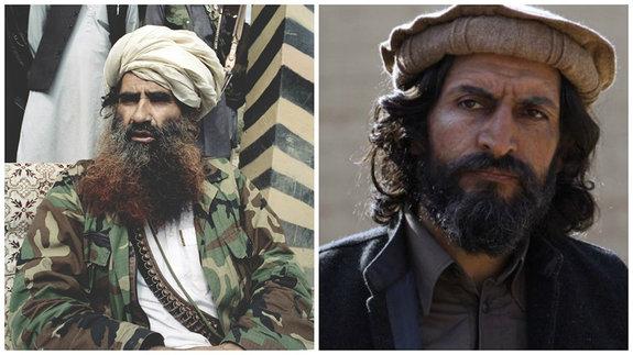 Слева — настоящий Джелалуддин Хаккани, справа — его экранное воплощение, актер Нуман Акар.