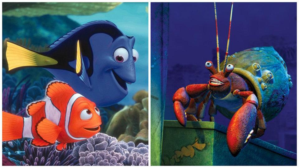 «Впоисках Немо»  и«Подводная братва»