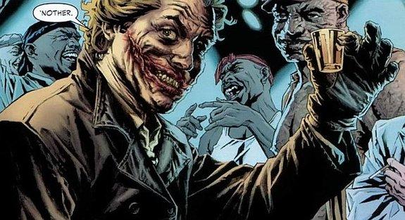 Фрагмент комикса Брайана Аззарелло и Ли Бермехо «Joker»