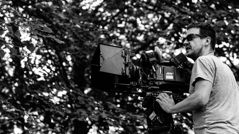 Лукаш Зал на съемках фильма «Холодная война»