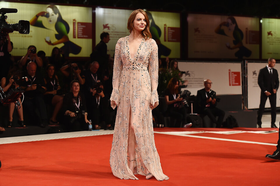 Эмма Стоун на 75-м Венецианском кинофестивале / Фото: Getty Images