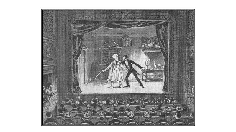 Вариация на тему «Призрака Пеппера», которая была показана в парижском театре Анри Робена / Иллюстрация из коллекции автора книги «Исчезающий слон»