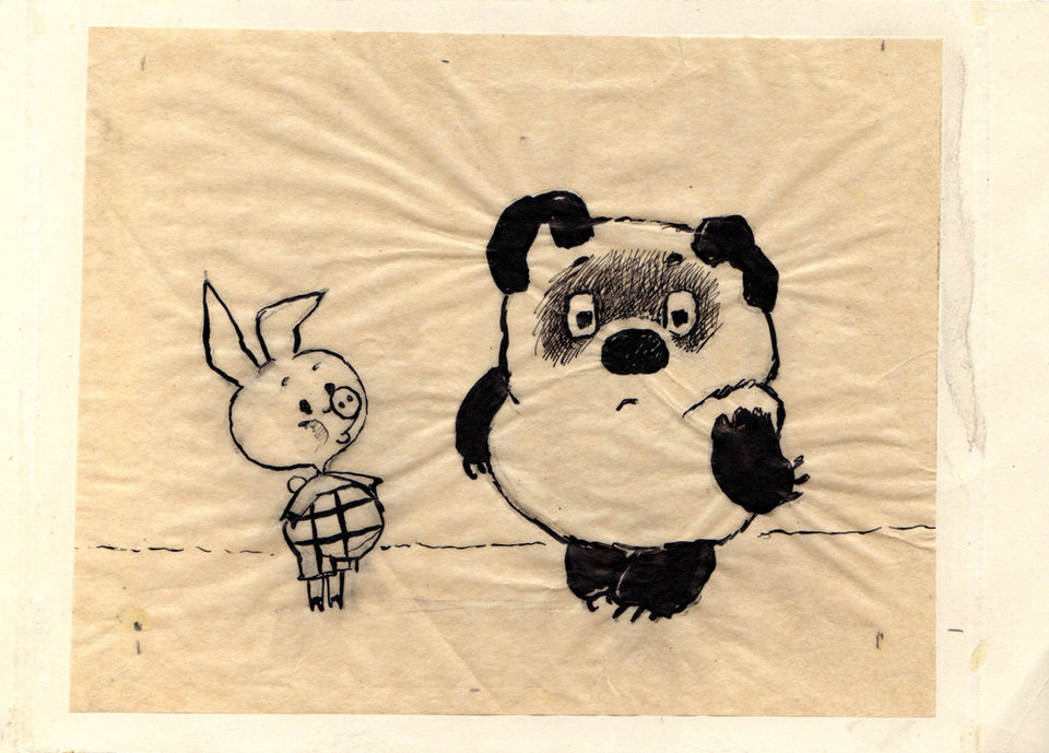актер рисунок винни пух и пятачок карандашом первым супругом