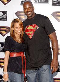 Шакил О`Нил с женой