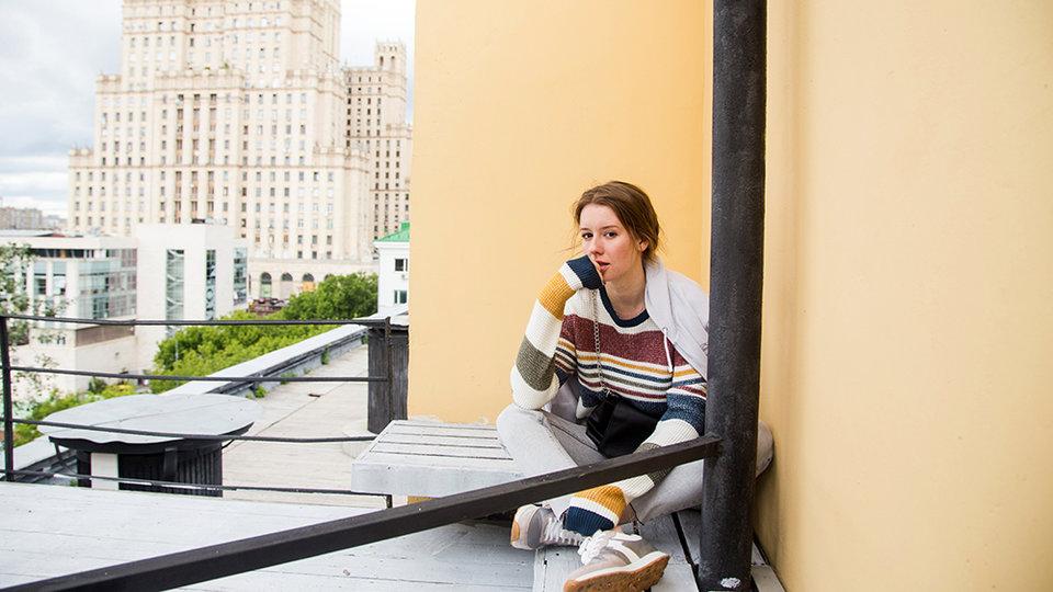 Ирина Старшенбаум на съемках сериала «Все сложно» / Фото: Ксения Угольникова