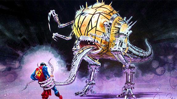Концепт-арт к фильму «Супермен жив», художник Жак Рей, Warner Bros.