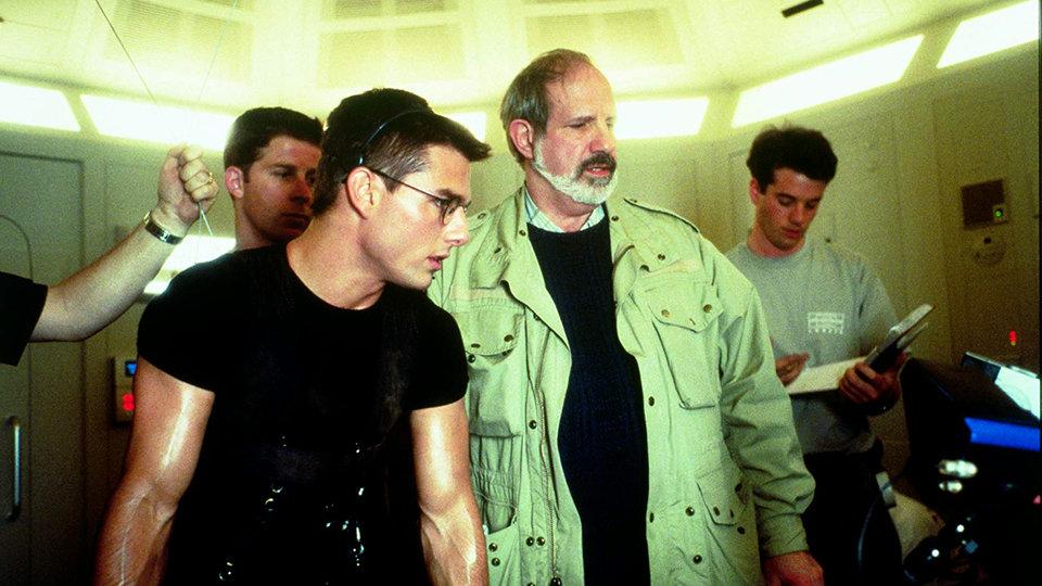 Том Круз и Брайан де Пальма на съемках фильма «Миссия: невыполнима»