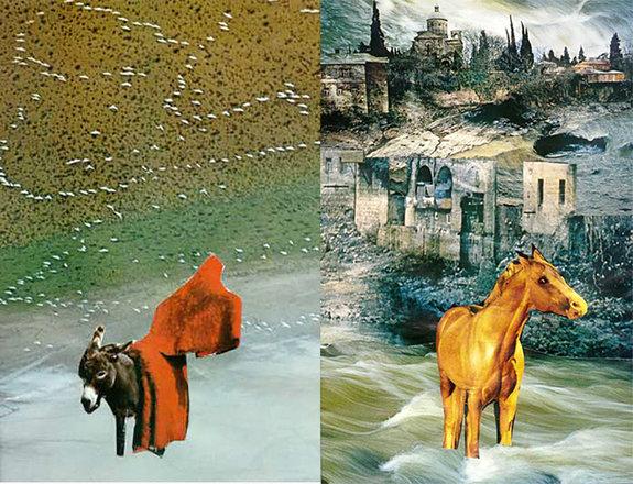 Иллюстрации из серии Параджанова «Исповедь» (1989): «Эпилог» (слева)  и «Город, где яродился» (справа) / Фото: Завен Саркисян