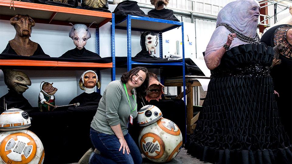Корреспондент КиноПоиска Заира Озова на съемочной площадке фильма «Звездные войны: Последние джедаи»