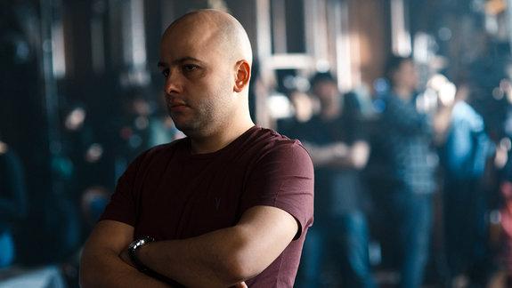 Егор Баранов на съемках фильма «Гоголь»