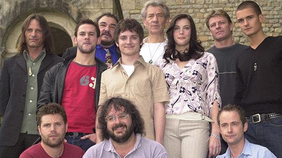 Актеры «Властелина колец» на Каннском кинофестивале в 2001 году